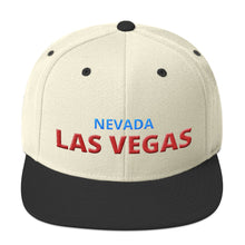 Load image into Gallery viewer, Las Vegas Nevada Red Blue Text Partial 3D Puff, Snapback Hat