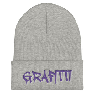 Grafitti Text, Unisex Cuffed Beanie