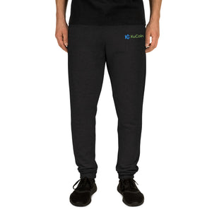 KuCoin Cryptocurrency Exhange Logo, Embroidered Unisex Joggers MEN