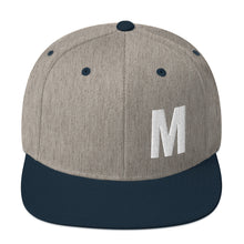 Load image into Gallery viewer, Alphabet Letter M, Snapback Hat