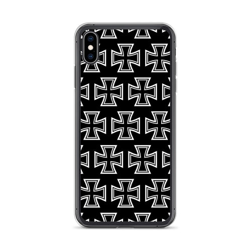 Maltese Cross Pattern iPhone Case Black