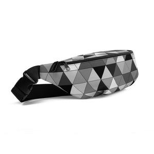 Grayscale Triangle Pattern, Fanny Pack