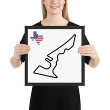 Load image into Gallery viewer, Austin Texas Circuit of The Americas Track Map, Framed poster