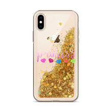 Load image into Gallery viewer, Princess and Diamonds, Liquid Glitter iPhone Case