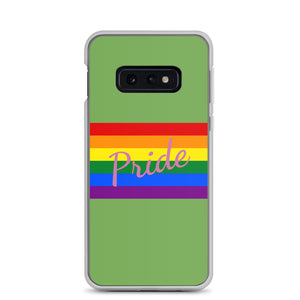 Pride Text Pink and Flag, Samsung Galaxy Case