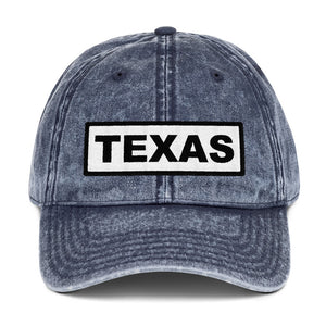 Texas Sign, Vintage Cotton Dad Hat