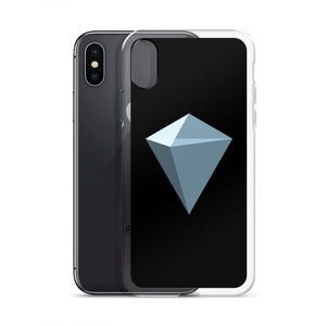 KuCoin Shares KCS Logo Symbol, iPhone Case Black