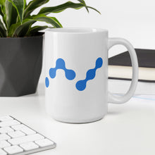 Load image into Gallery viewer, Nano Cryptocurrency Logo, White Glossy Coffee Mug