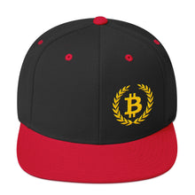 Load image into Gallery viewer, Bitcoin Wreath Gold, Snapback Hat