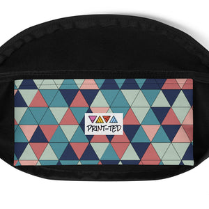Multicolor Triangle Pattern, Fanny Pack