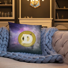 Load image into Gallery viewer, Dogecoin On The Moon, Basic Throw Pillow