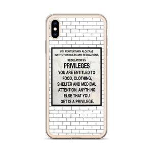 Alcatraz Prison Regulation Nr 5, iPhone Case