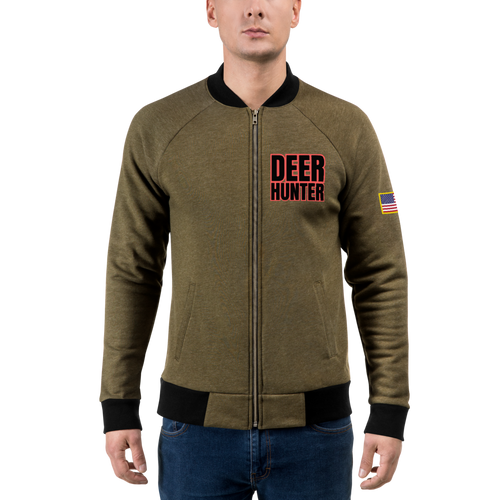 deer hunter outdoors activity light bomber jacket