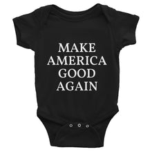Load image into Gallery viewer, Make America Good Again MAGA Style, Baby Infant Bodysuit Black