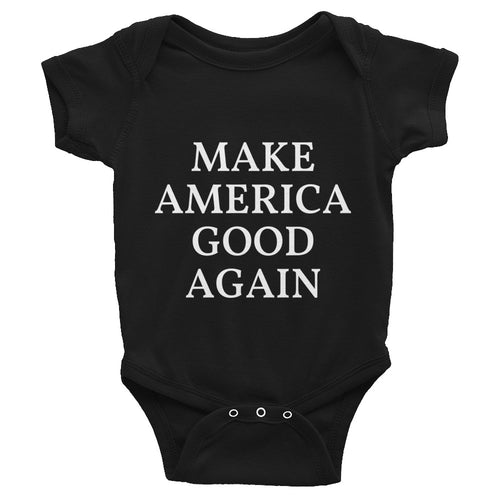 Make America Good Again MAGA Style, Baby Infant Bodysuit Black