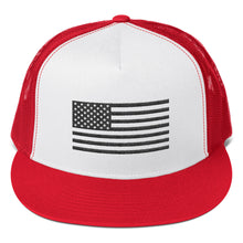 Load image into Gallery viewer, Black US Flag, Classic Trucker Cap