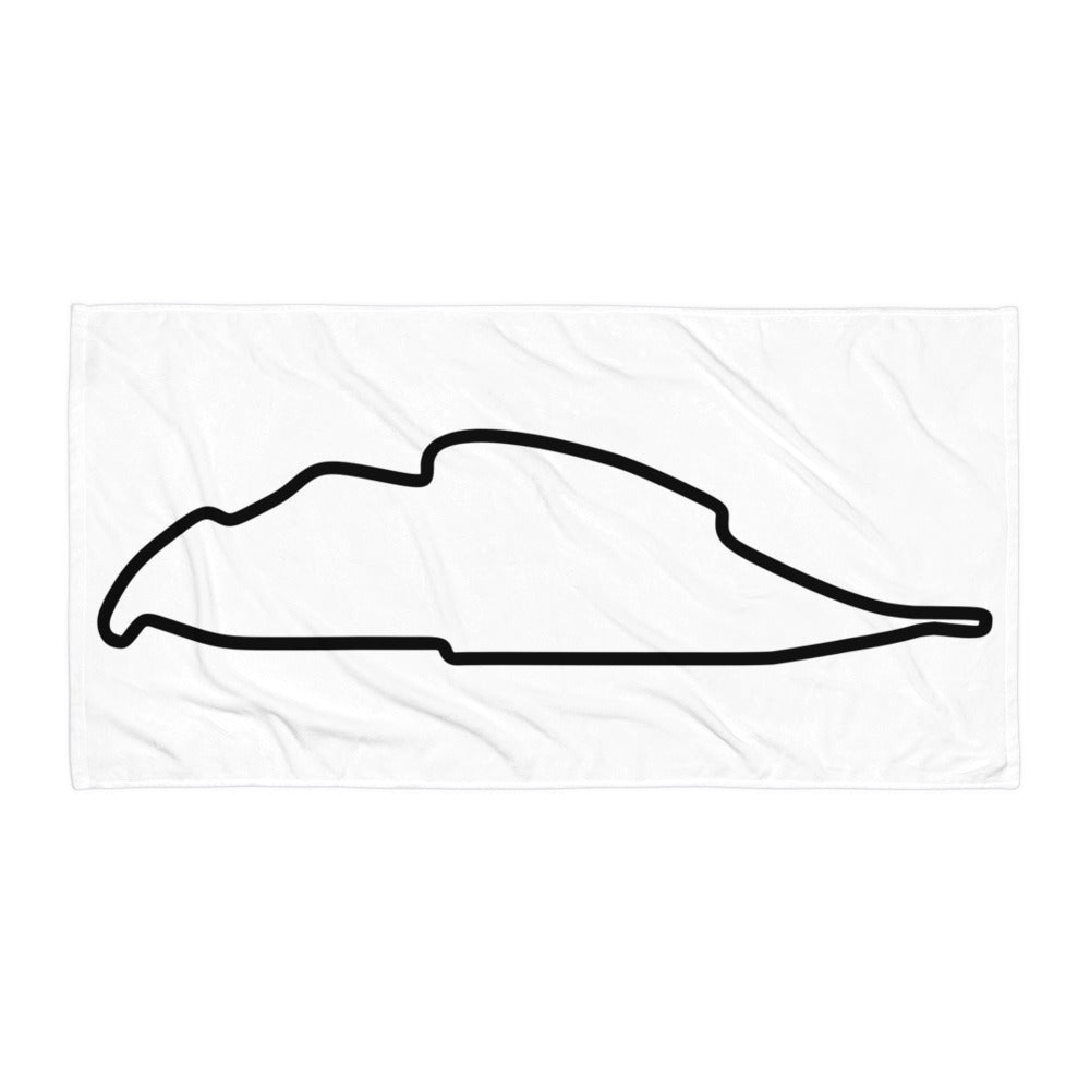 Montreal Canada Circuit Gilles Villeneuve Track Map, Towel WHITE