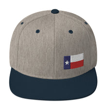 Load image into Gallery viewer, Texas Lone Star Flag Small Left Side, Embroidered Snapback Hat