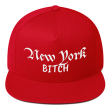 Load image into Gallery viewer, New York Bitch Text, Flat Bill Snapback Hat