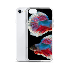 Load image into Gallery viewer, Betta Splendens Fighting Fish, iPhone Case Black