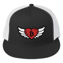 Load image into Gallery viewer, Bitcoin Heart Angel, Trucker Cap