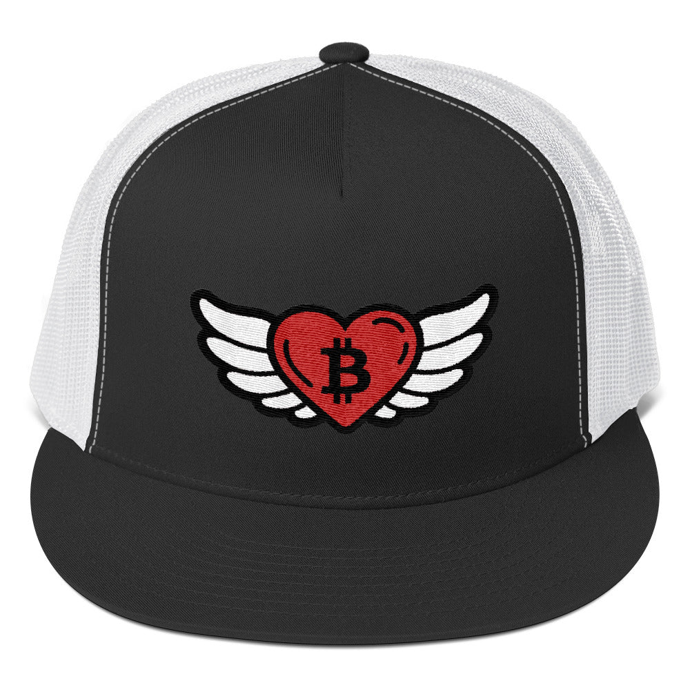 Bitcoin Heart Angel, Trucker Cap