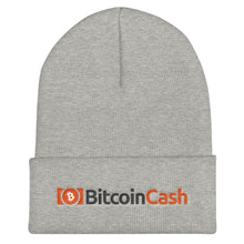 Load image into Gallery viewer, Bitcoin Cash Cryptocurrency Logo and Text, Unisex Cuffed Beanie