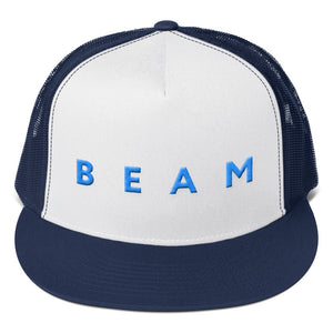 Beam Cryptocurrency Logo Text 3D Puff, Trucker Cap