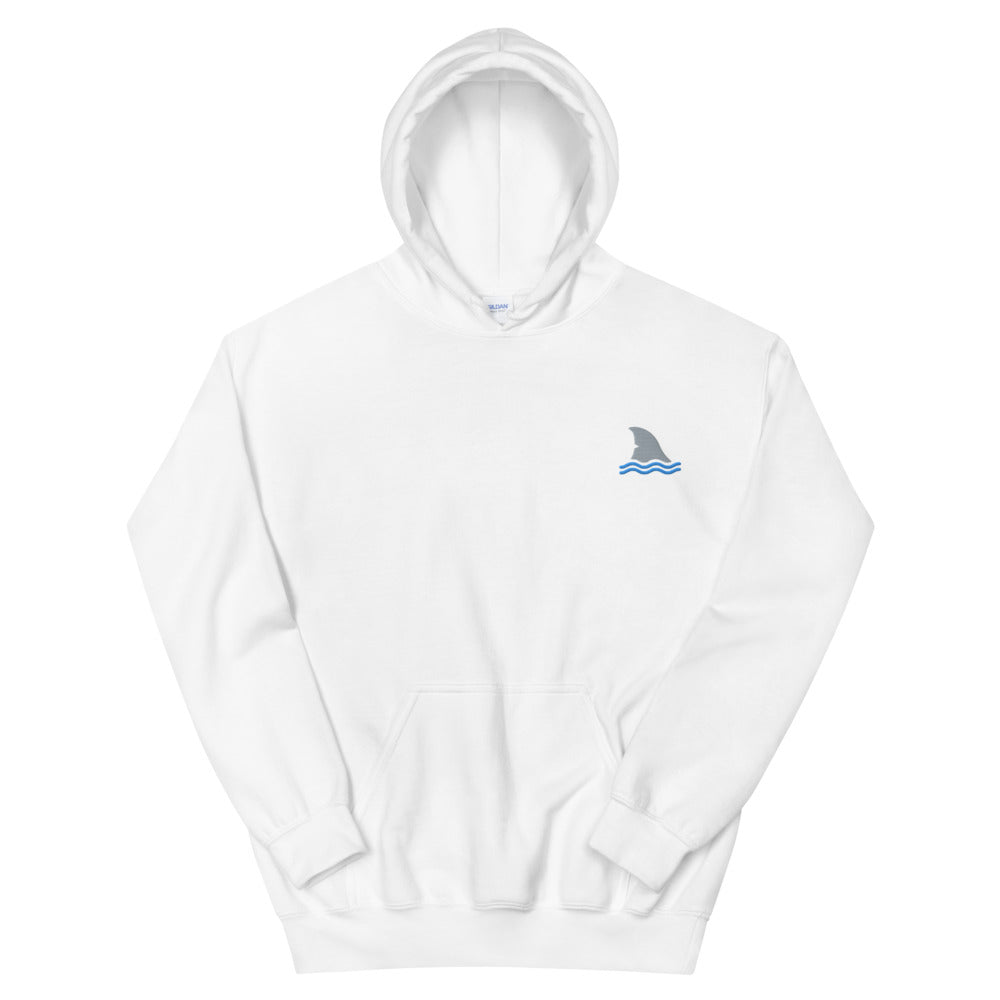 Shark Fin, Embroidered Unisex Hoodie