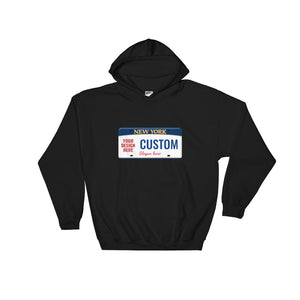 Design Your Own New York State License Plate, Unisex Hooded Sweatshirt