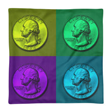 Load image into Gallery viewer, US Washington Quarter Dollar Coin Art, Premium Pillow Case only