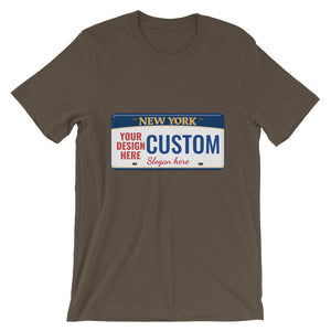 Design Your Own New York State License Plate, Short-Sleeve Unisex T-Shirt