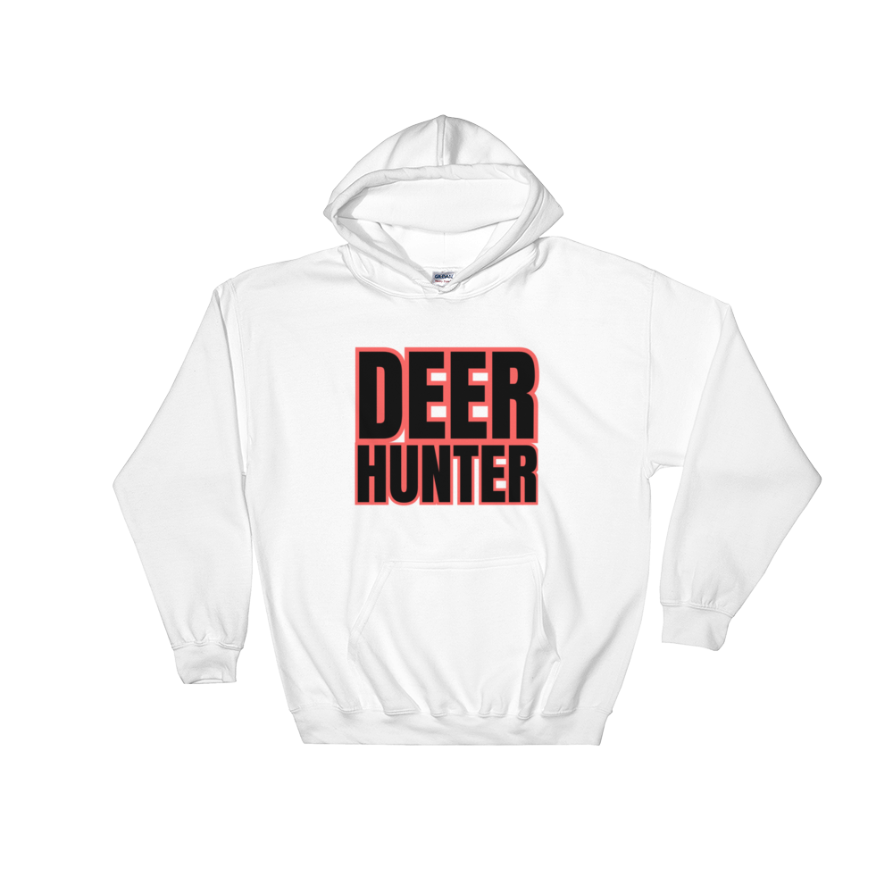 Deer Hunter Text, Unisex Hooded Sweatshirt
