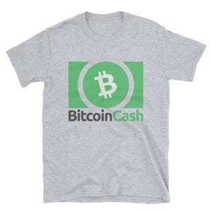 Bitcoin Cash BCH Cryptocurrency Logo 2, Short-Sleeve Unisex T-Shirt