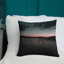 Load image into Gallery viewer, Lake at Summer Night Sunset, Premium Throw Pillow