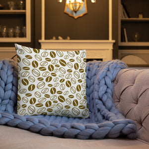 coffee beans printed premium home decor pillow