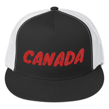 Load image into Gallery viewer, Canada Text Red, Trucker Cap