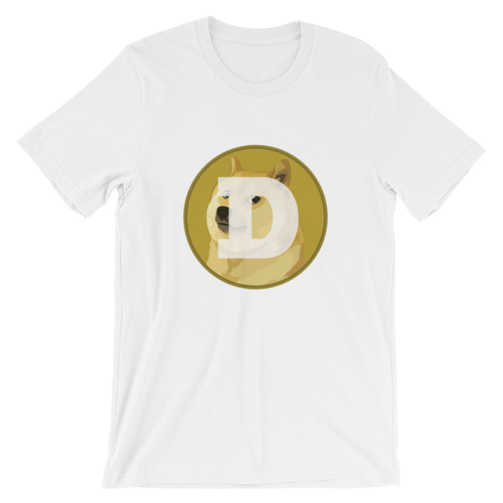 Dogecoin Cryptocurrency Logo, Unisex Short Sleeve Jersey T-Shirt