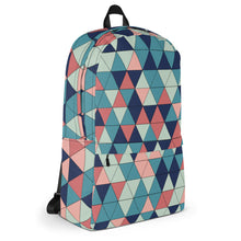 Load image into Gallery viewer, Multicolored Triangle Pattern, Backpack