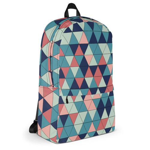 Multicolored Triangle Pattern, Backpack