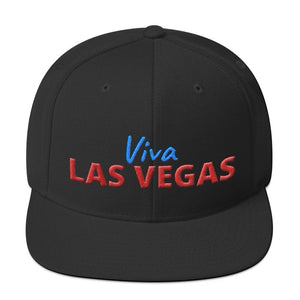 Viva Las Vegas Red Blue Text Partial 3D Puff, Snapback Hat