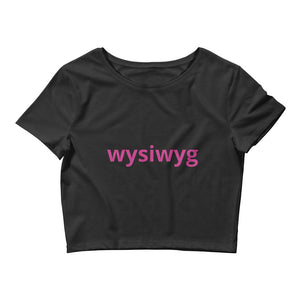 Wysiwyg Text Printed Women's Crop Tee
