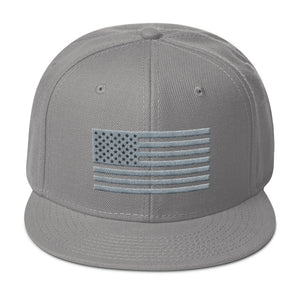 US Flag Gray and Black, Snapback Hat
