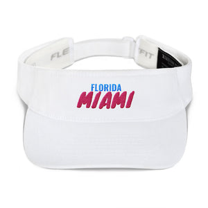 Miami Florida Text, Visor hat