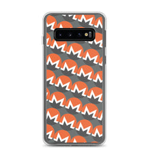 Load image into Gallery viewer, Monero Cryptocurrency Logo Pattern, Samsung Galaxy Case Gray