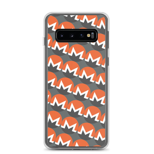 Monero Cryptocurrency Logo Pattern, Samsung Galaxy Case Gray