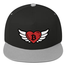 Load image into Gallery viewer, Bitcoin Heart Angel, Snapback Hat