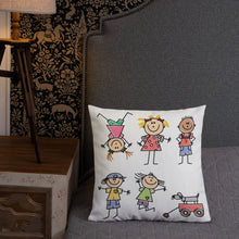 Load image into Gallery viewer, Kids Life Cartoon Style, Premium Throw Pillow