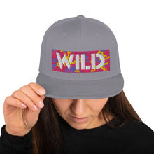 Load image into Gallery viewer, WILD 3D Text Atomic Camo, Snapback Hat