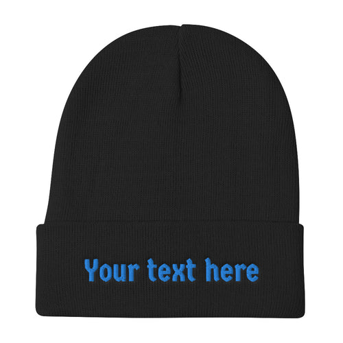 Design Your Own Text on Embroidered Beanie